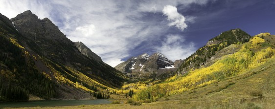 Maroon Bells 2005 Panorama canvas gallery wrap
