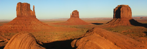 Monument Valley Panorama canvas gallery wrap